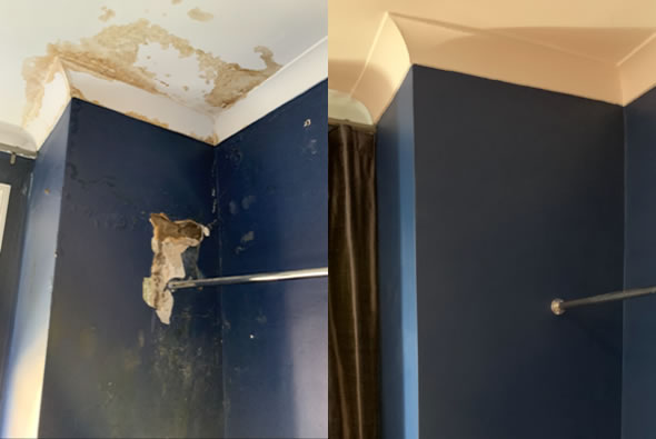 Repair to Wall and Painting Project Before and After